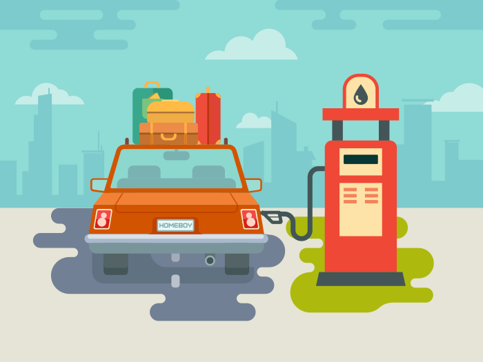 car_gas_station_flat_vector_illustration